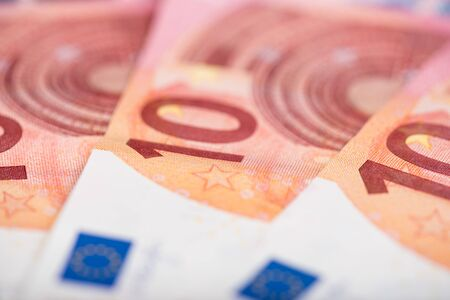 ten: Background of ten euro banknotes