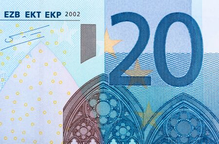 twenty euro banknote: Background of twenty euro banknote Stock Photo