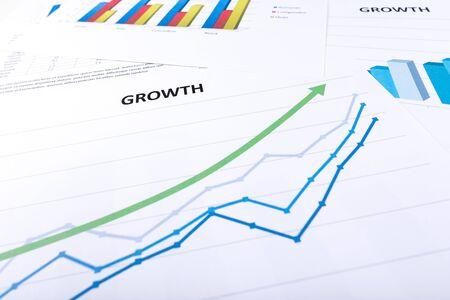 economics: Graph showing economic growth Stock Photo