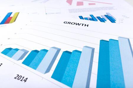 economic activity: Graph showing economic growth Stock Photo