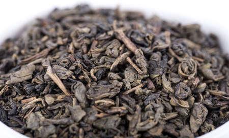 gunpowder: Green gunpowder tea, closeup
