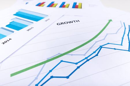 financial growth: Graph showing economic growth Stock Photo