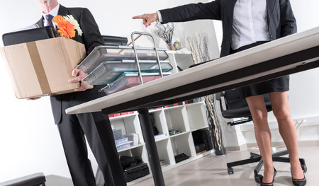 dismiss: Employee laid off by a businesswoman