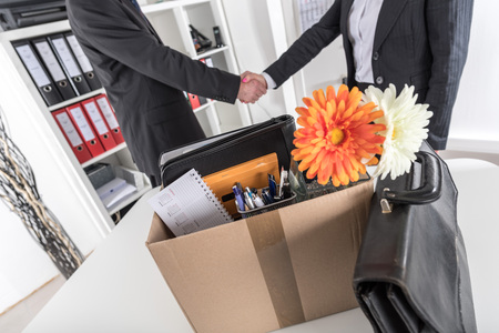 new employee: Manager welcoming a new employee at office