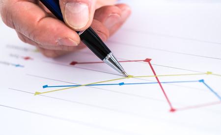 graphic: Graphic analysis, closeup Stock Photo