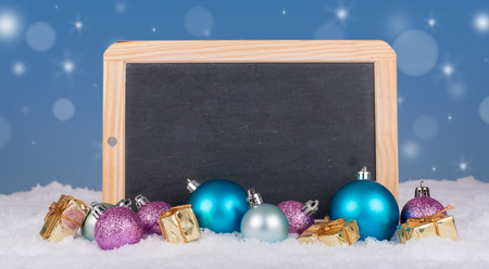 christmas decor: Christmas decor with a slate