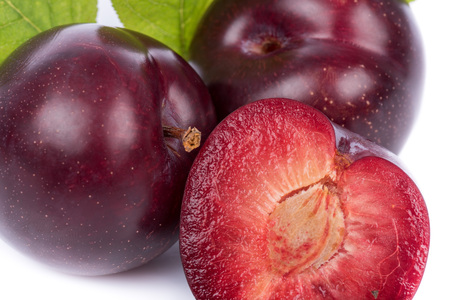 plum: Ripe cherry plums, closeup