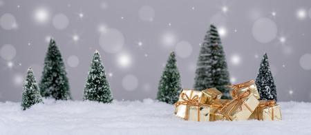 decor: Christmas decor with bokeh background Stock Photo