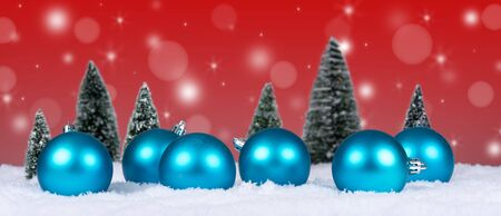christmas decor: Christmas decor with bokeh red background