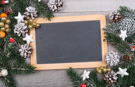 blank slate: Christmas card with blank slate