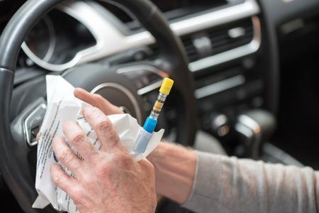 Prueba de alcohol antes de conducir
