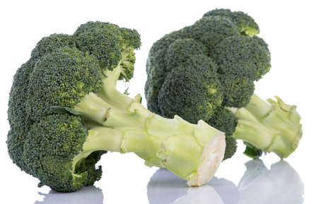 brocoli: Fresh broccoli, isolated on white Stock Photo