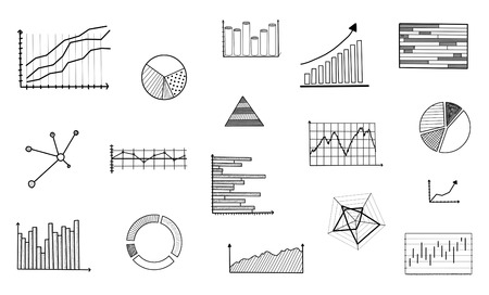 graphical: Graphical analysis concept drawn on a white background