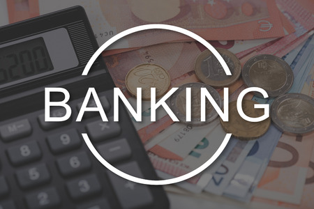 technology transaction: Banking concept illustrated by a picture on background