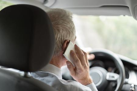 Man phoning while driving