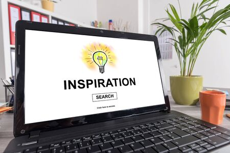 inventions: Laptop screen with inspiration concept