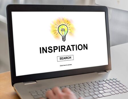 inspiration: Laptop screen with inspiration concept
