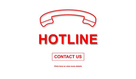 hotline: Concept of hotline on white background