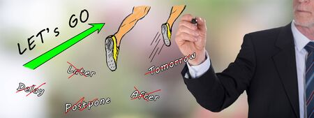 Businessman drawing an action concept