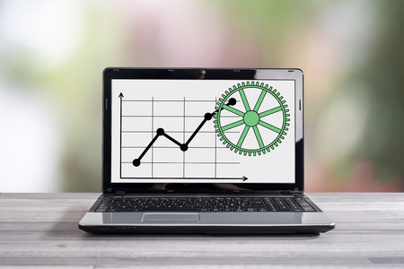 Business analysis concept shown on a laptop screen Stock Photo