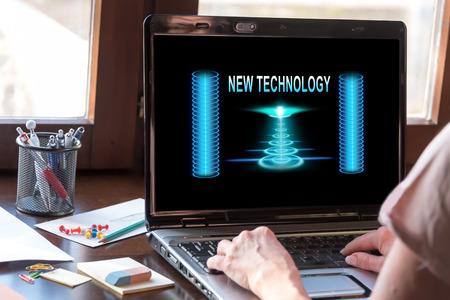 modernization: Laptop screen displaying a new technology concept
