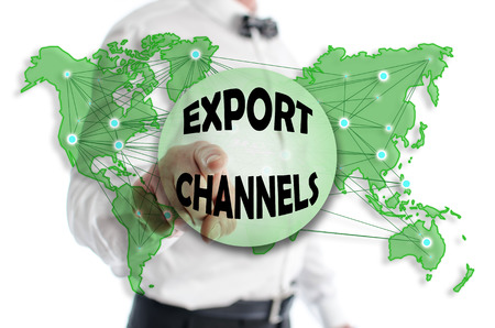 Export channels concept shown by a man in background
