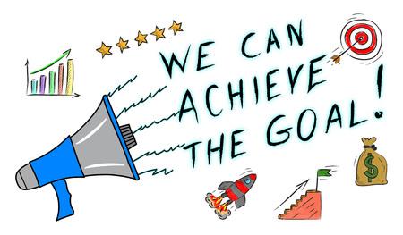 Illustration of a goal achievement concept Stock Photo