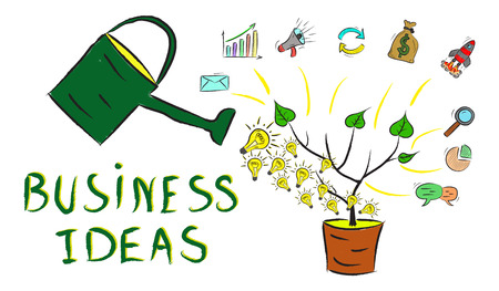 Illustration of a business ideas concept Stock Photo
