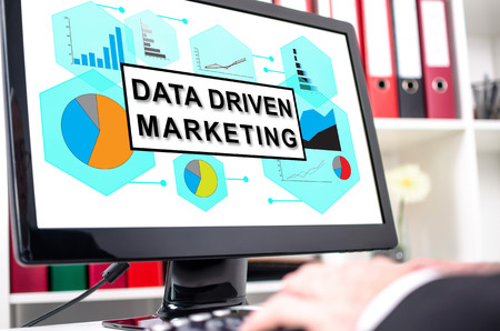 Data driven marketing concept shown on a computer screen Stock Photo - 81676575
