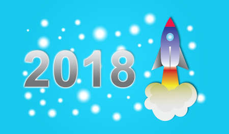 Illustration of a new year 2018 concept