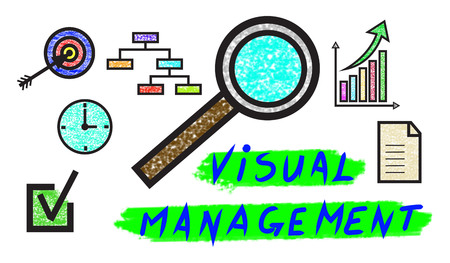 Illustration of a visual management concept Stock Photo