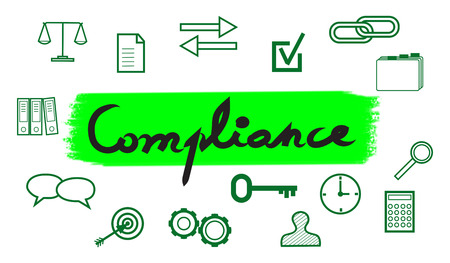 Illustration of a compliance concept