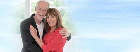 Portrait of a senior couple happy to be together Stok Fotoğraf