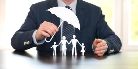 Symbool van gezinsbescherming door een algemeen agent