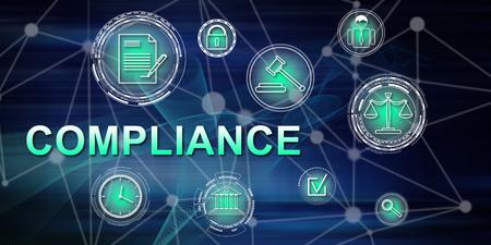 Illustration eines Compliance-Konzepts