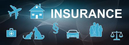 Illustration of an insurance concept Stock Illustration - 108660548