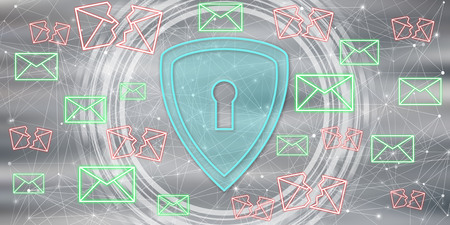 Illustration of an email protection concept