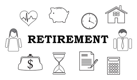 Illustration of a retirement concept Imagens