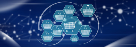 Illustration of an online shopping concept Stock Illustration - 110961943
