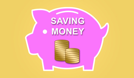 Illustration of a money saving concept
