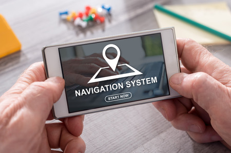 Navigation system concept on mobile phone