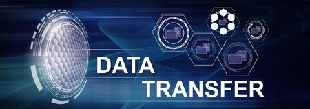 Illustration of a data transfer concept