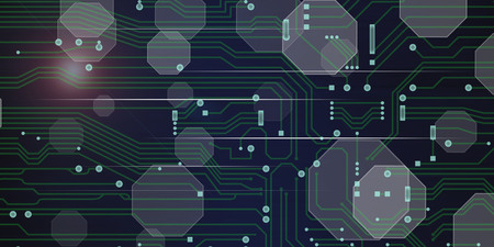 Illustration of a digital technology concept 版權商用圖片
