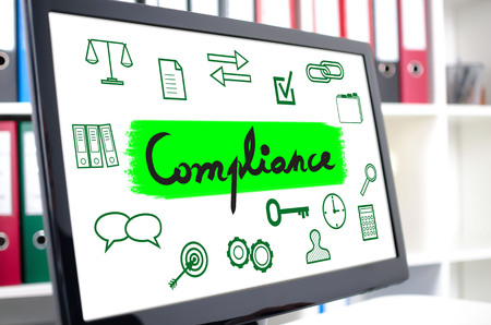 Compliance concept shown on a computer screen