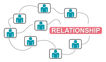 Illustration of a relationship concept