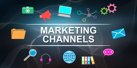 Illustration of a marketing channels concept