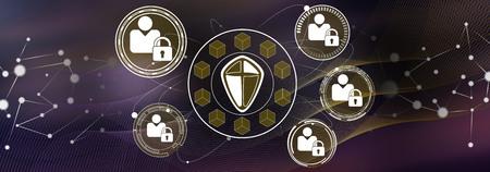 Illustration eines Sicherheitskonzepts für personenbezogene Daten Standard-Bild
