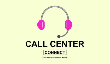 Illustration of a call center concept Stok Fotoğraf
