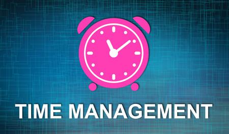 Illustration of a time management concept