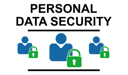 Illustration of a personal data security concept Фото со стока